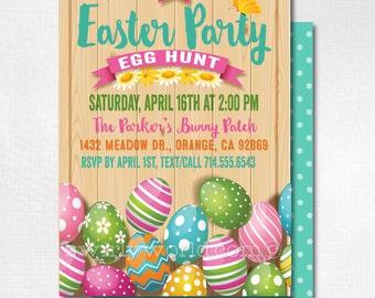easter party invitations egg hunt easter invites easter egg hunt egg hunt party - Easter Party Invitations