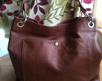 Extra large Leather Bucket Tote