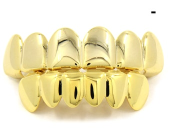 14k gold plated grillz