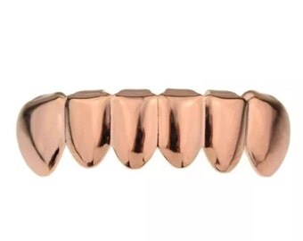 Rose Gold Plated Bottom Grillz