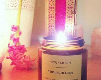 Handmade candle, Natural soy wax, aromatherapy, Ylang-ylang,  Neroli, Patchouli, Jasmine, natural and pure essential oils, romantic