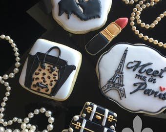 1 Dozen Travel Bon Voyage Sugar Cookies