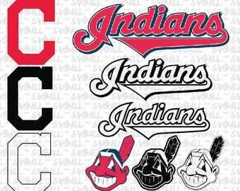cleveland indians  Svg Files, cleveland indians Png, cleveland indians PDF, cleveland indians EPS, cleveland indians DXF Instant Download