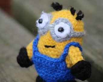 Items similar to Keychain minion, amigurumi minion ...