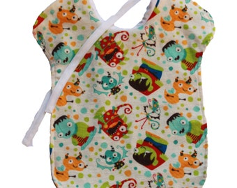 Reversible bib - creatures
