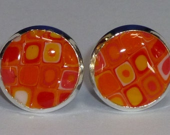 Orange Retro Earrings