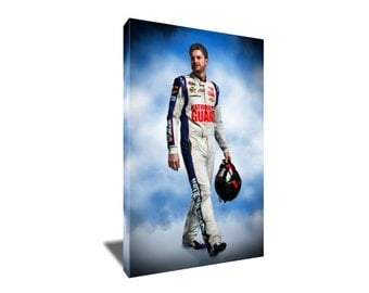 FREE SHIPPING Nascar Driver Dale Earnhardt jr Canvas Art