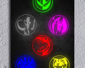 Power Rangers Power Coins Framed Print