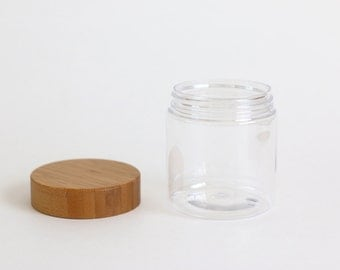 Empty PET Jar with Bamboo Cap - 240g / 9oz