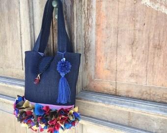 Gypsy festival bag/ festival bag/ tote bag / trendy shoulder bag/unique bohemian bag/personalised satchel/gift for her/bohemian shoulder bag