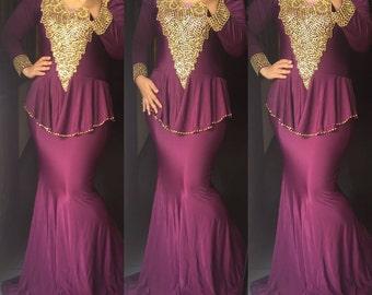 premium spandex dress. Peplum dress abaya. Ready to ship