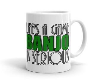 Banjo Player Mug - Life Is A Joke Banjo Is Serious