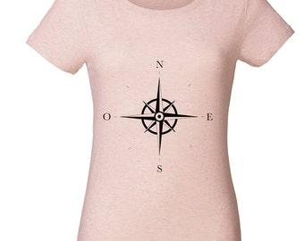 Wind Rose round neck T-shirt