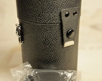 NEW: Vivitar Japan SLR 'Tall' Hard Lens Case 'Discontinued' ~ PVC Leather/Water-Resist/Strap (P1016 209)