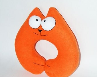 Toy soft pillow  Simon's Cat Toy Travel Comfort Neck Pillow  Pillow Head Rest Neck Support Toy Cushion