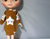 Fancy sweater-dress for Blythe doll