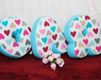 Baby gift, Letter decor, Initial pillow, Alphabet pillow, For kids, Cushion,  Family pillow, Decorative pillow, Letter Pillow, Gift for girl