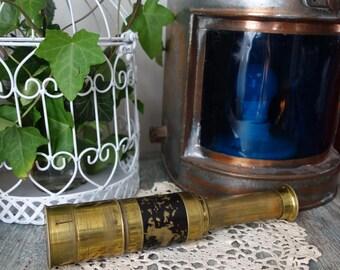 "Antique 14"" Pirates Brass Spyglass Marine Telescope Hand Spyglass  Wit Closing Lid Working! Nautical Decor Collectible Spyglass Telescope"