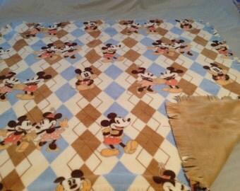 Pretty Mickey Mouse double fleece blanket.  Sewn not tied.  54x57
