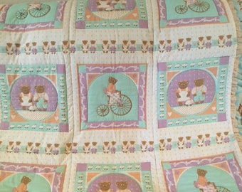 44x50 baby girl quilt.