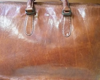 Vintage Italian Leather Briefcase- 'The Bridge'-REDUCED from 130.00