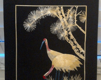 20% off Chinese Wheat Stalk Two Birds // Art Picture