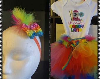 Customized Embroidered Birthday Tutu 3pc Outfit