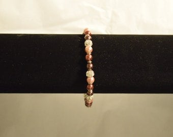Brown Ombre Crystal Bracelet
