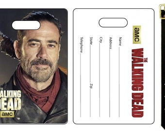 The Walking Dead Negan Jeffery Dean Morgan Bag Luggage Tag