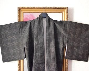 black & white - vintage kimono from kyoto, japan