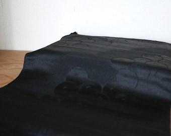 Vintage Japanese Silk Obiage /// Obiage, Silk scarf, Kimono scarf, Black silk scarf, Black Silk Obiage, Silk Kimono, See through silk Obiage