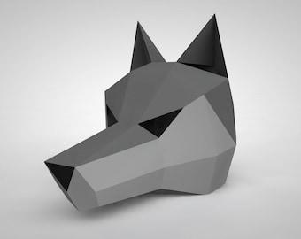 Wolf Mask | Paper Mask | Papercraft 3D DIY kit