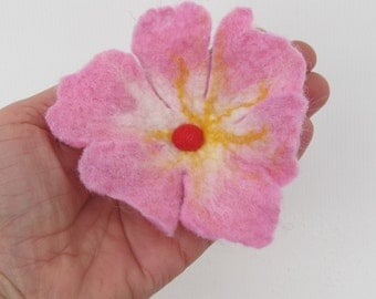 Flower Felt, Brooch, Felted Jewelry, Ornament, Decoration for women, Gift for mom,Brooch Pin.