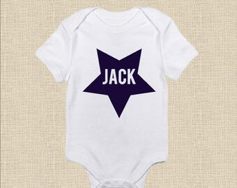 Personalized Baby Onesie / T-Shirt : Star & Name