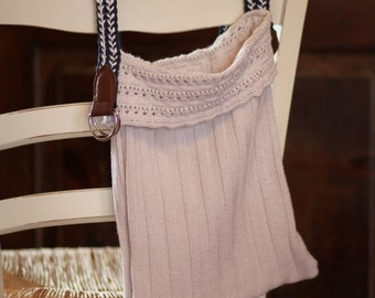 Sweater Purse * Cream