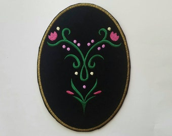 Princess Anna inspire patch, Princess Anna iron on large patch inspired, Frozen birthday party applique inspired iron on patch
