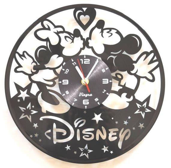Decoraci n de pared de mickey y minnie vinilo pared reloj - Reloj vinilo pared ...