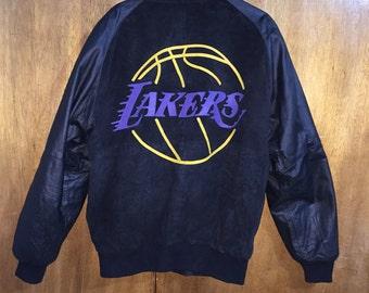 Vintage Starter Lakers  Leather Jacket