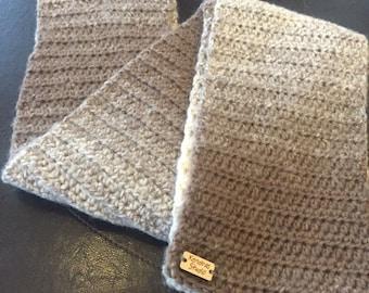Ombre scarf / crochet / handmade