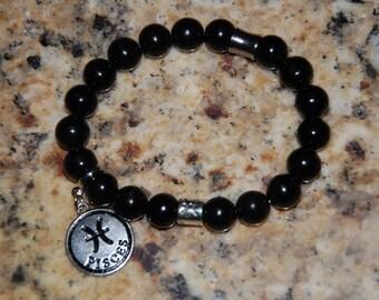 Black Onyx Zodiac Charm Bracelet