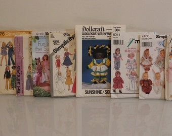 assorted doll patterns