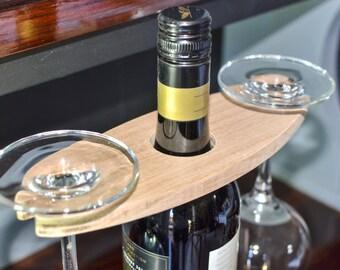 Twin Glass Wine Caddy