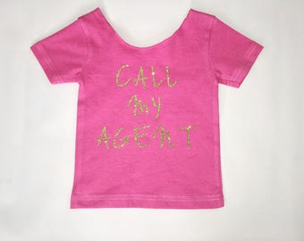 Onesie // Girls Tee // Off the Shoulder Pink Tshirt //