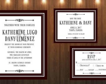 Wedding Invitation|Printable/Digital File Only