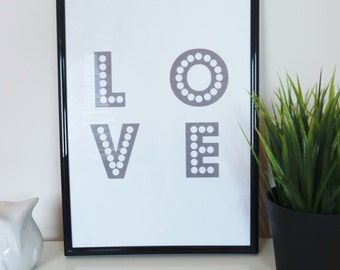 Love Quote. Inspirational Quote Print. Quote Poster. Typography Art. Wall Art. Motivational Life Quote.Home Decor