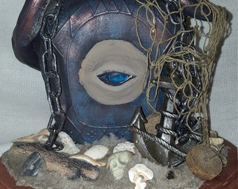 The Deep altered bottle diorama