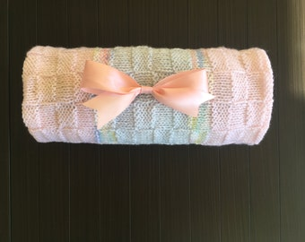 Handmade Crochet Pastel Baby Blanket
