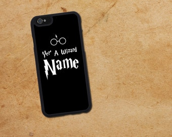 Customized Name your a wizard iphone case. Harry Potter Iphone 6 / 6s / 6 plus / 7 / 7 Plus Phone case Plastic / Silicone Rubber
