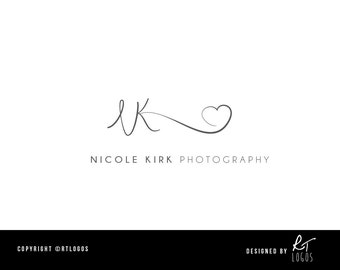 Pre-made photography logo for your customisation
