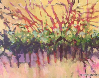 Painting  Sun on the Grapevines out back
